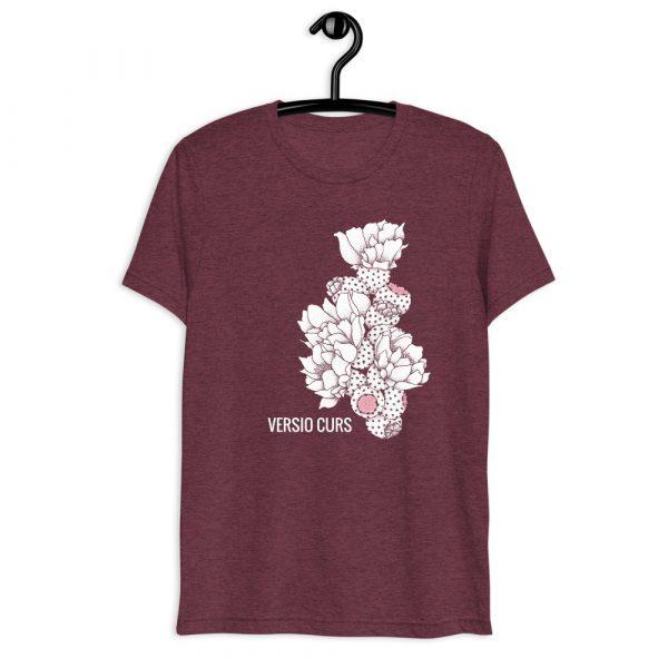 Versio Curs 'Cactus' Shirt on Maroon Tri-Blend